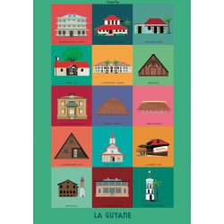 Affiche bâtiments de Guyane A2
