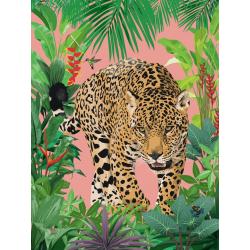 Affiche Jaguar rose 50x70